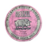 Pomada Fixare Puternica si Aspect Natural - Reuzel Grease Heavy Hold Pink Pomade 340 gr